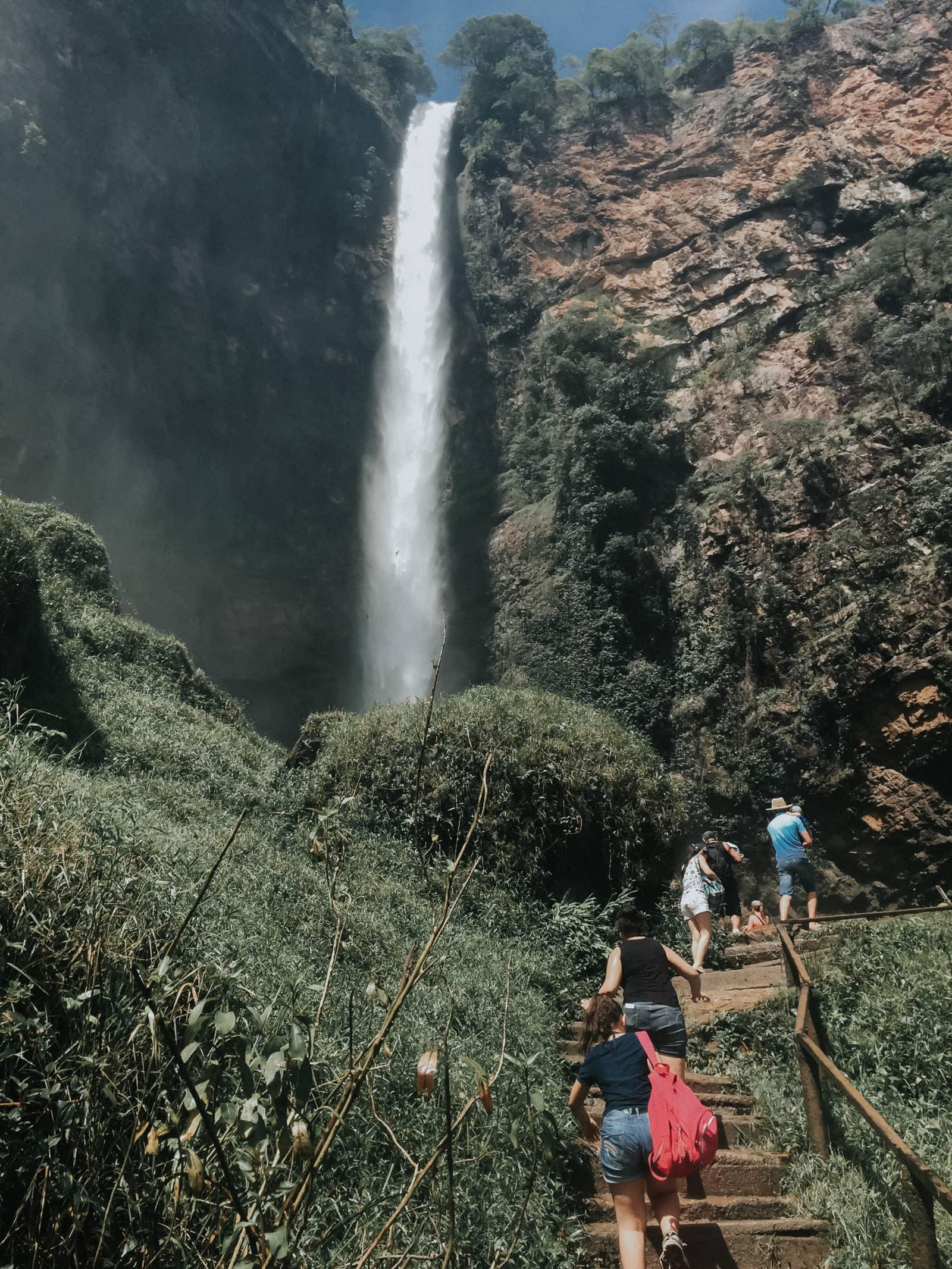 Wasserfall Brasilien Wandern Salto do Itiquira Goias