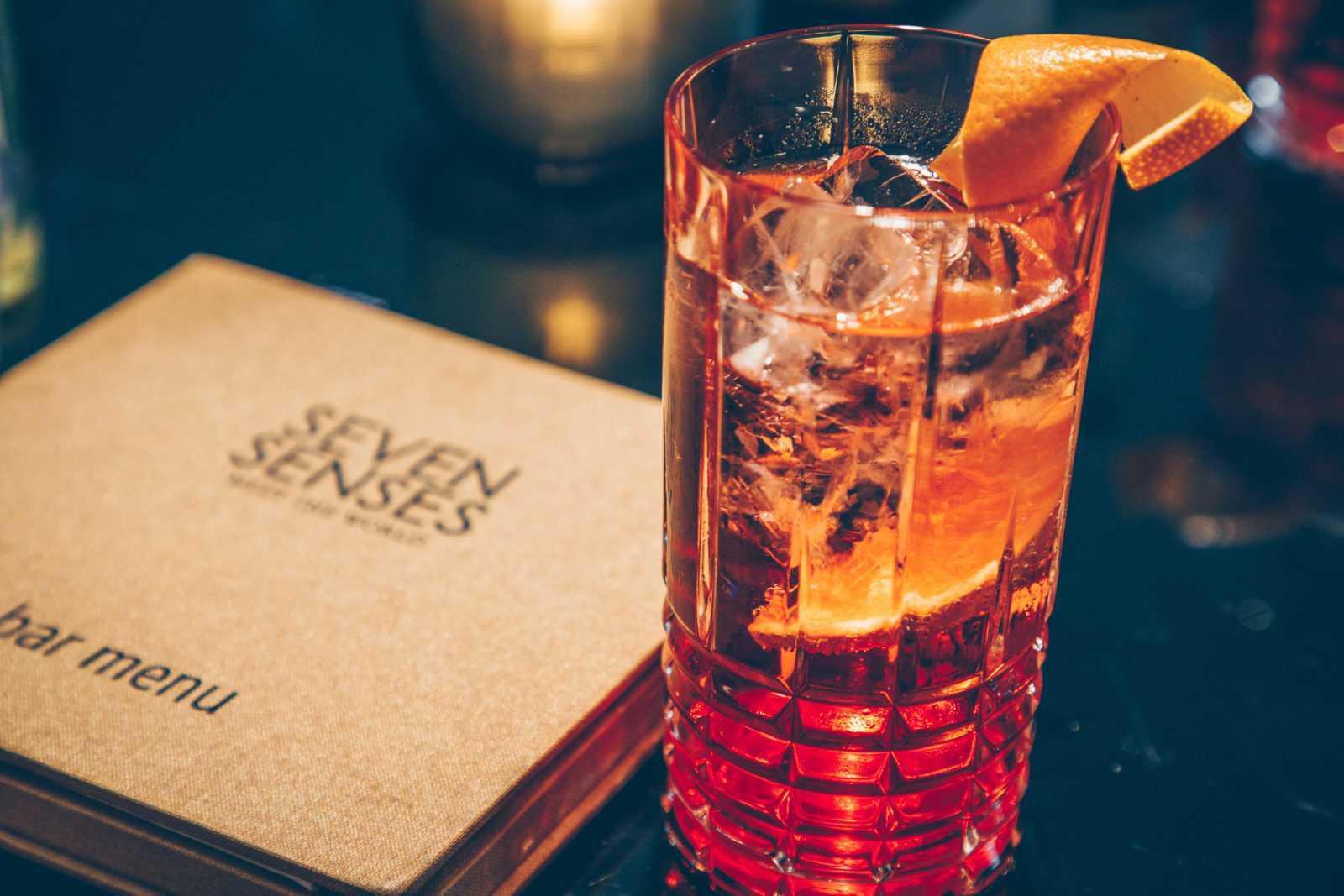 Airone Spritz at Seven Senses bar Hotel Stein Salzburg