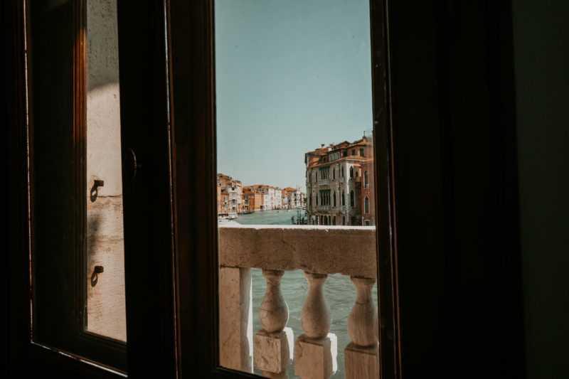 Fenster Palazzo Blick Canal Grande
