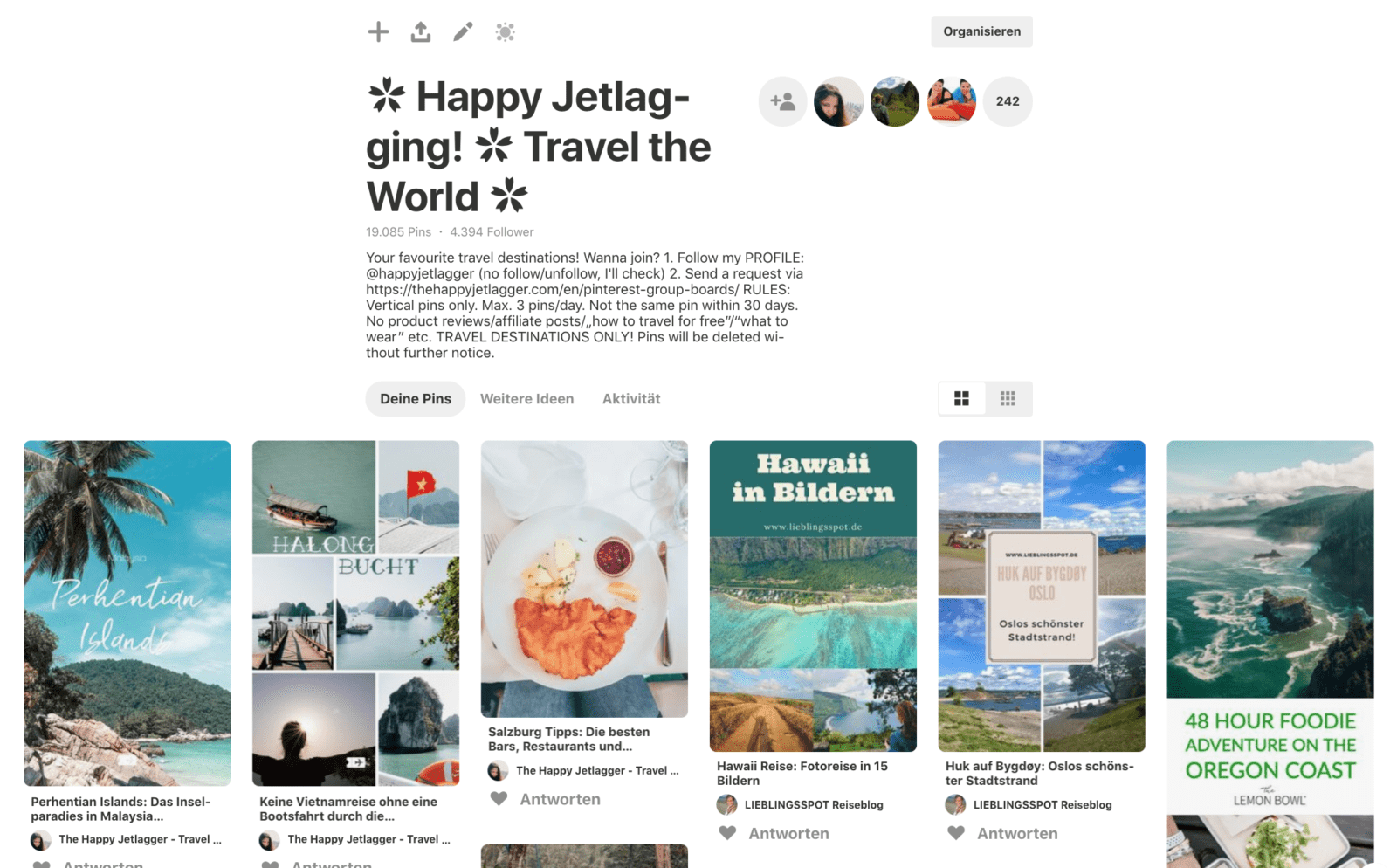 Happy Jetlagging Pinterest Gruppenboard