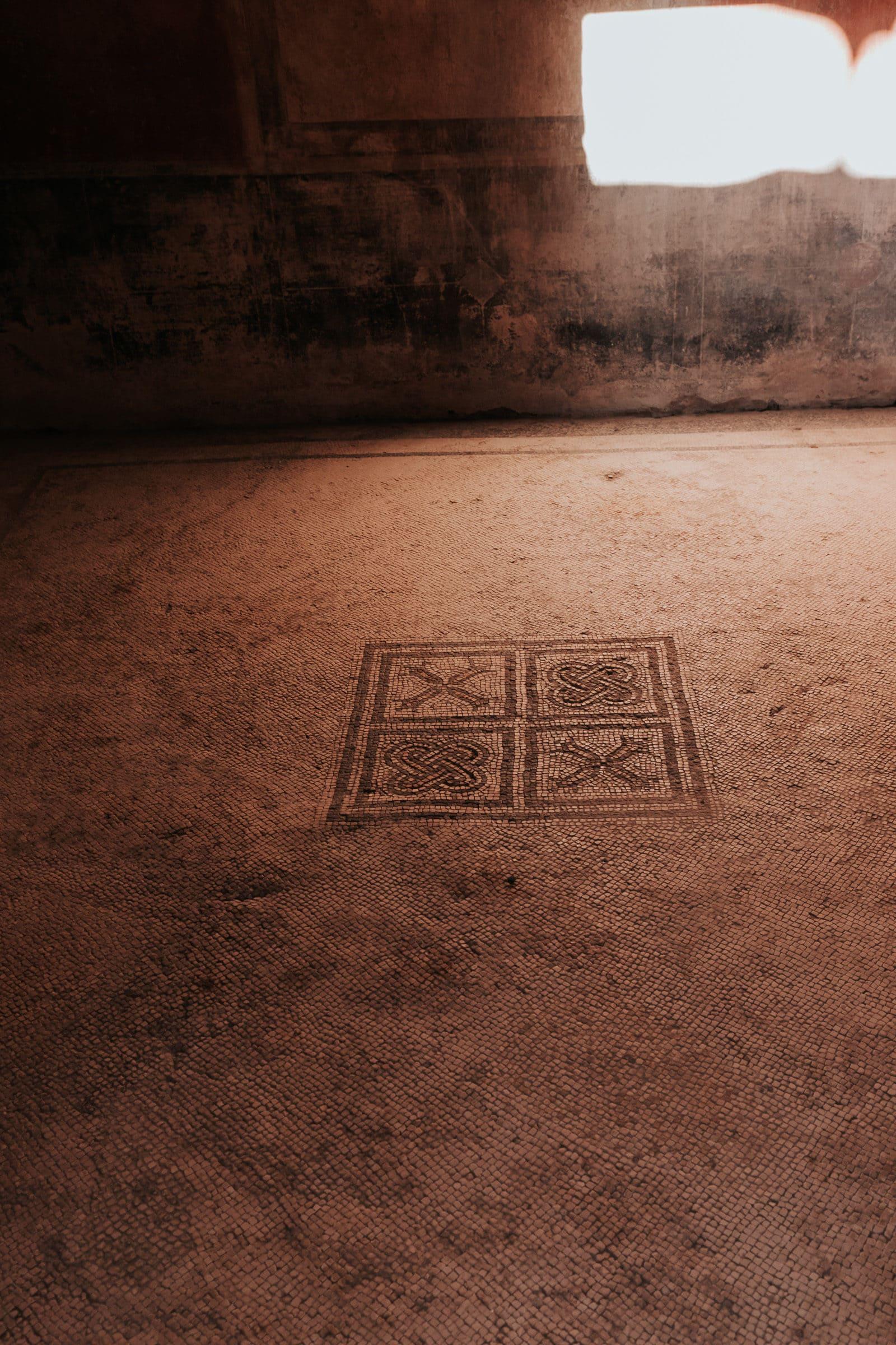 Pompeji Mosaik Fussboden