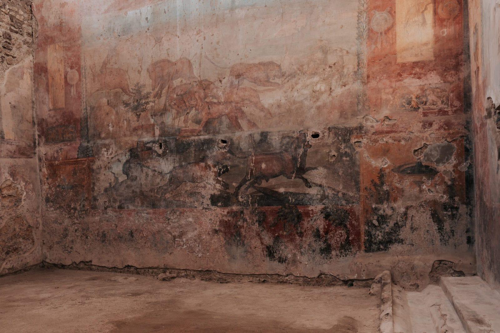 Pompeji Malerei Wand Häuser