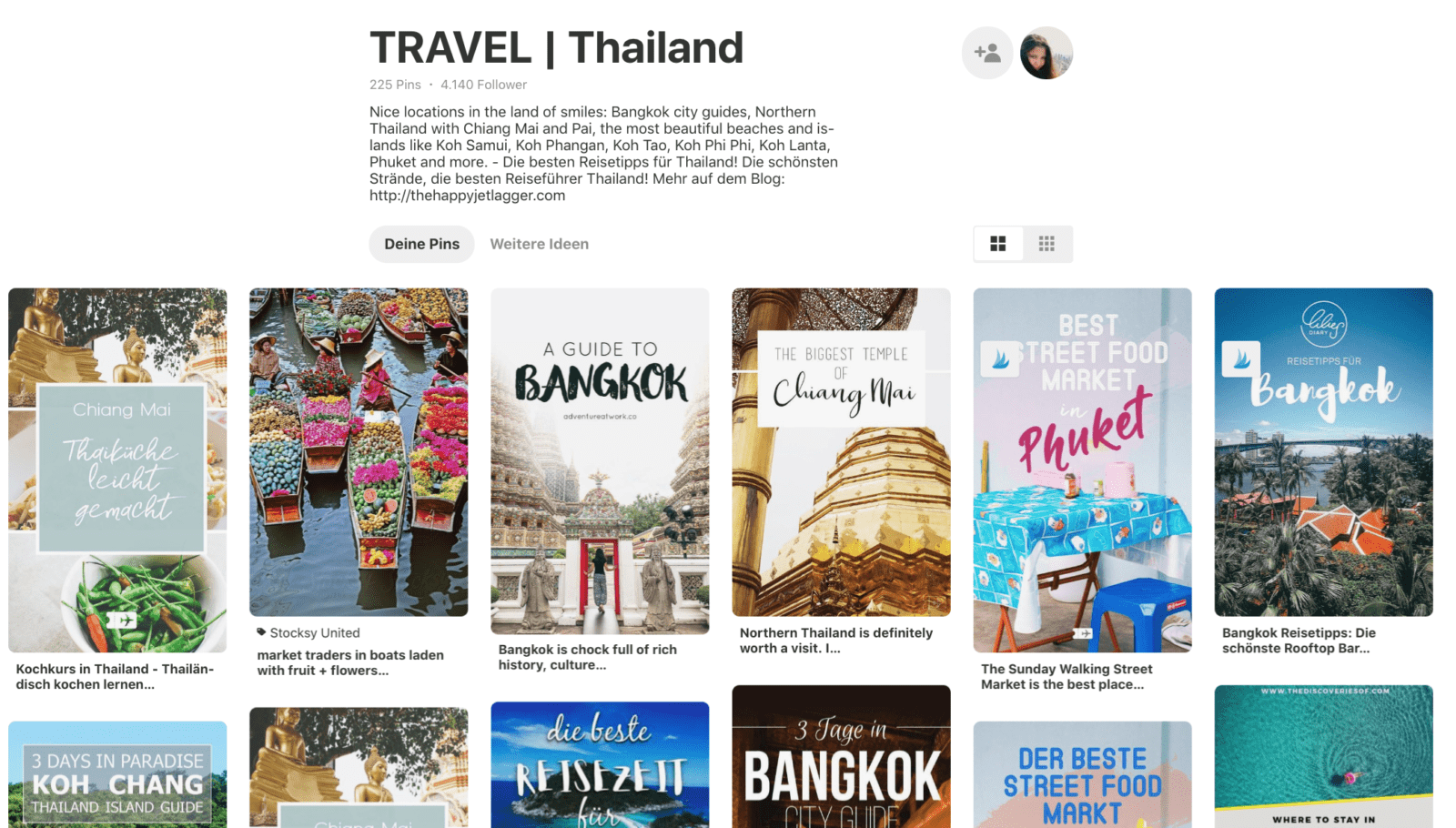 Pinterest Board Thailand