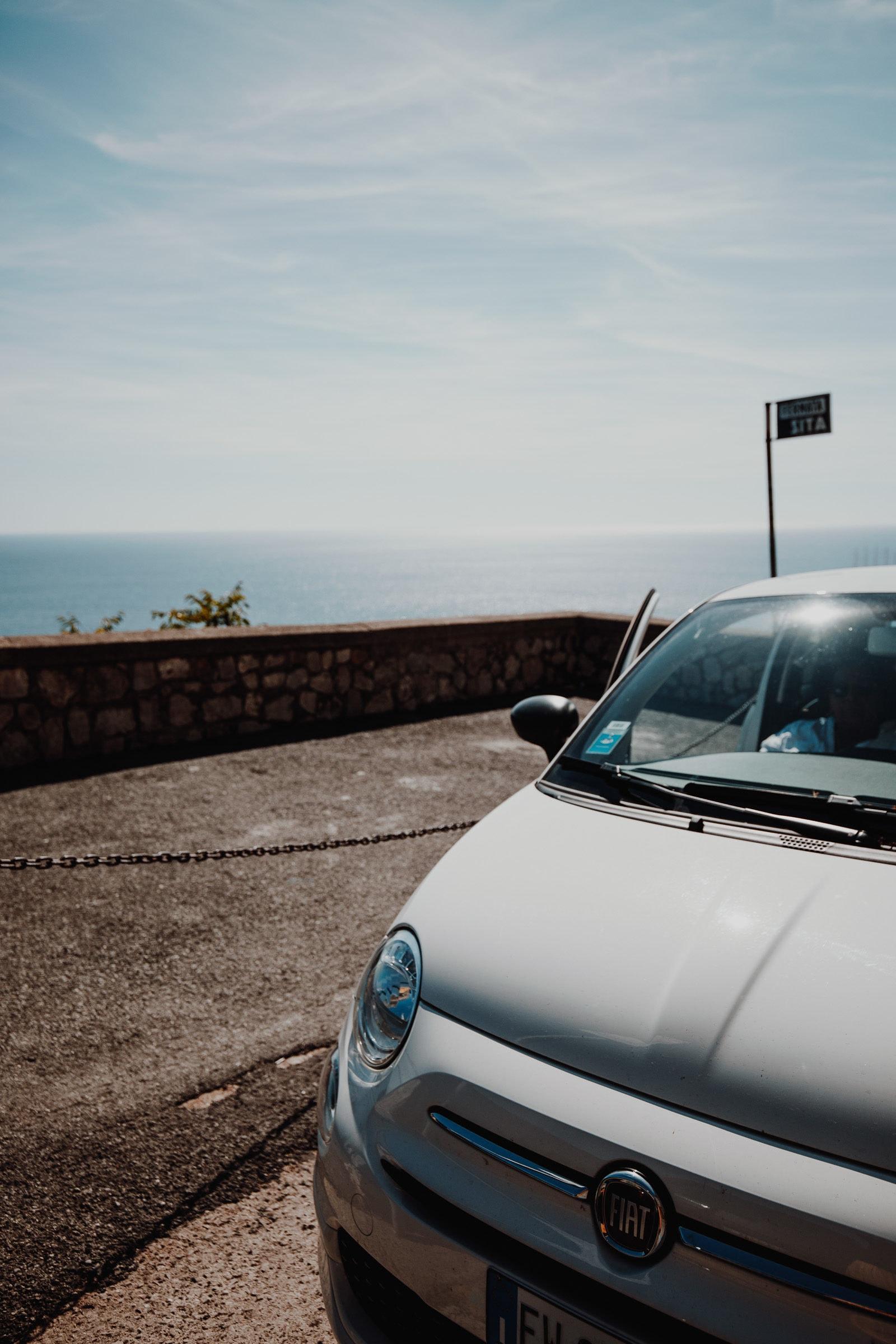 Amalfi Coast with a Fiat 500