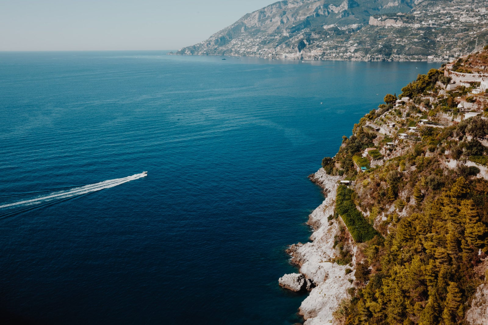 Amalfitana Blick auf Mittelmeer