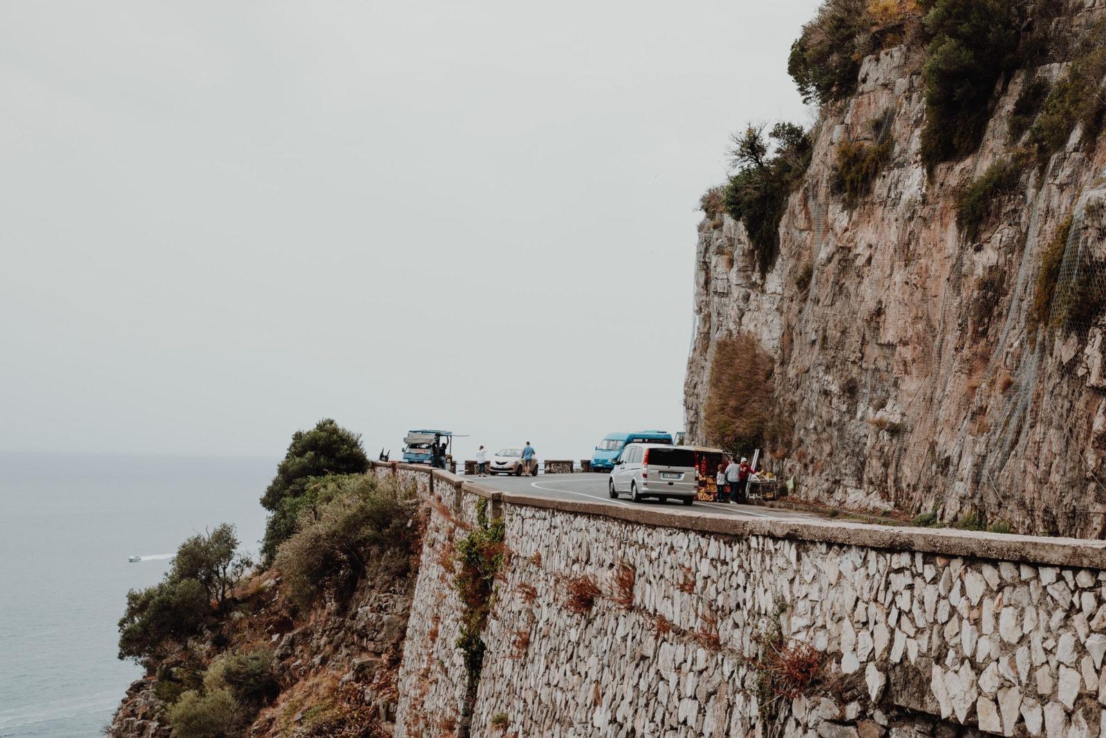 Amalfitana Straße Italien Serpentinen