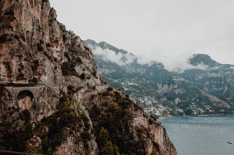 Küstenstrasse Amalfitana in Italien