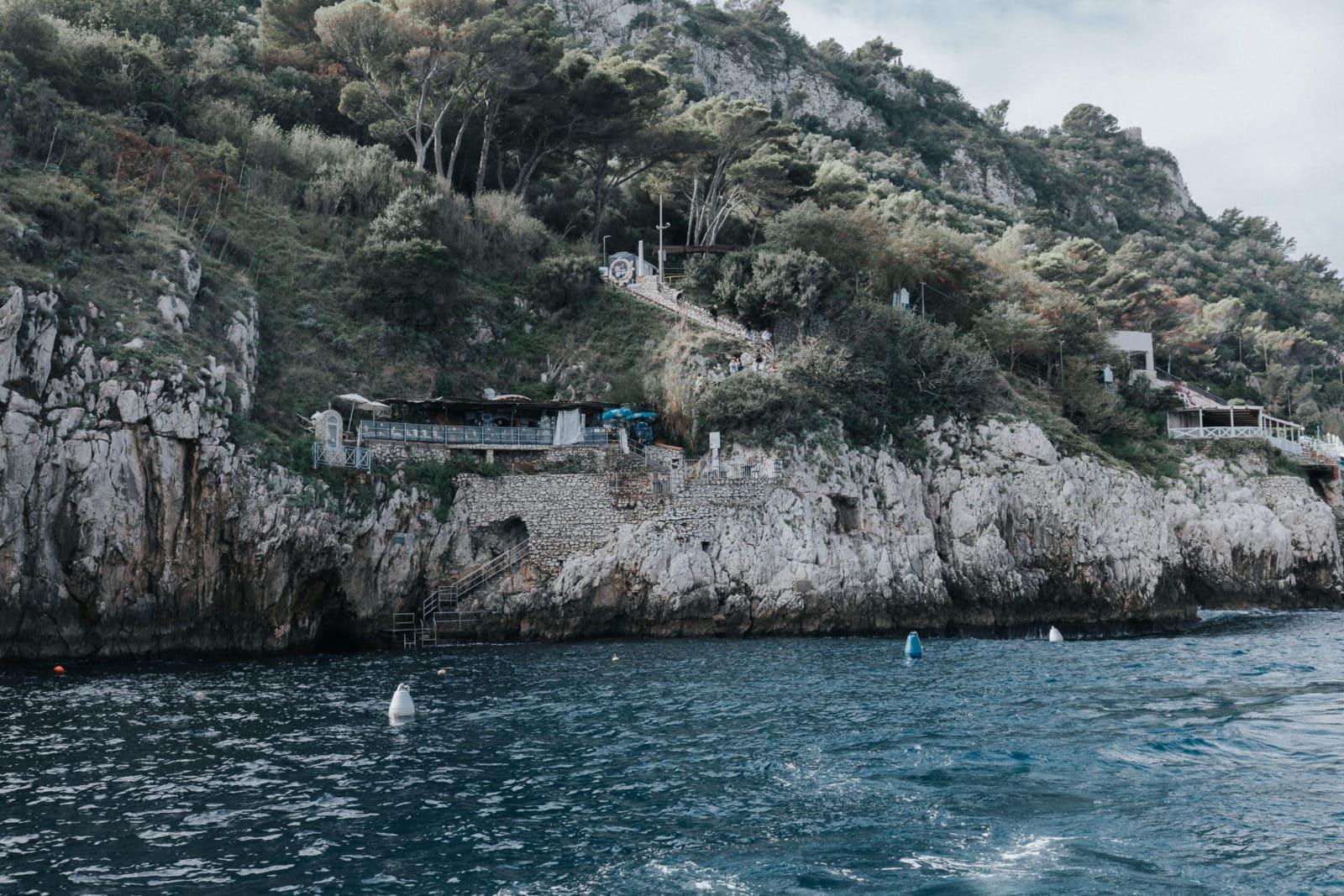 Blaue Grotte Capri Sehenswürdigkeiten Eingang