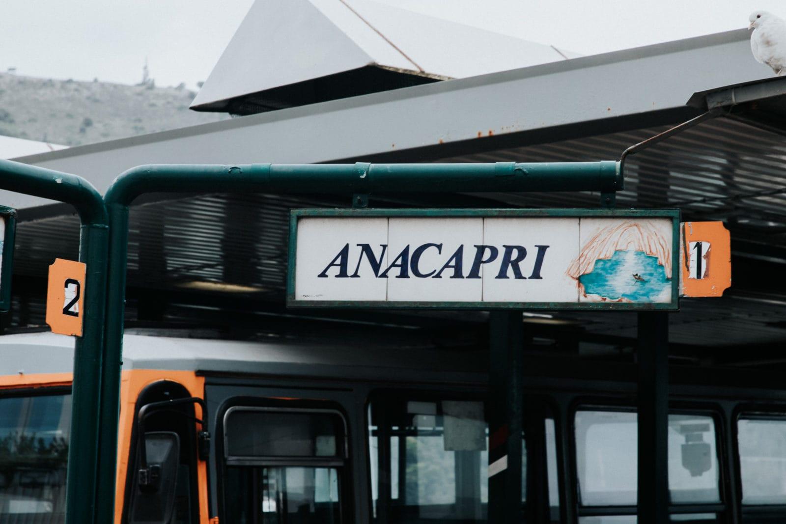 Capri Bus nach Anacapri Haltestelle