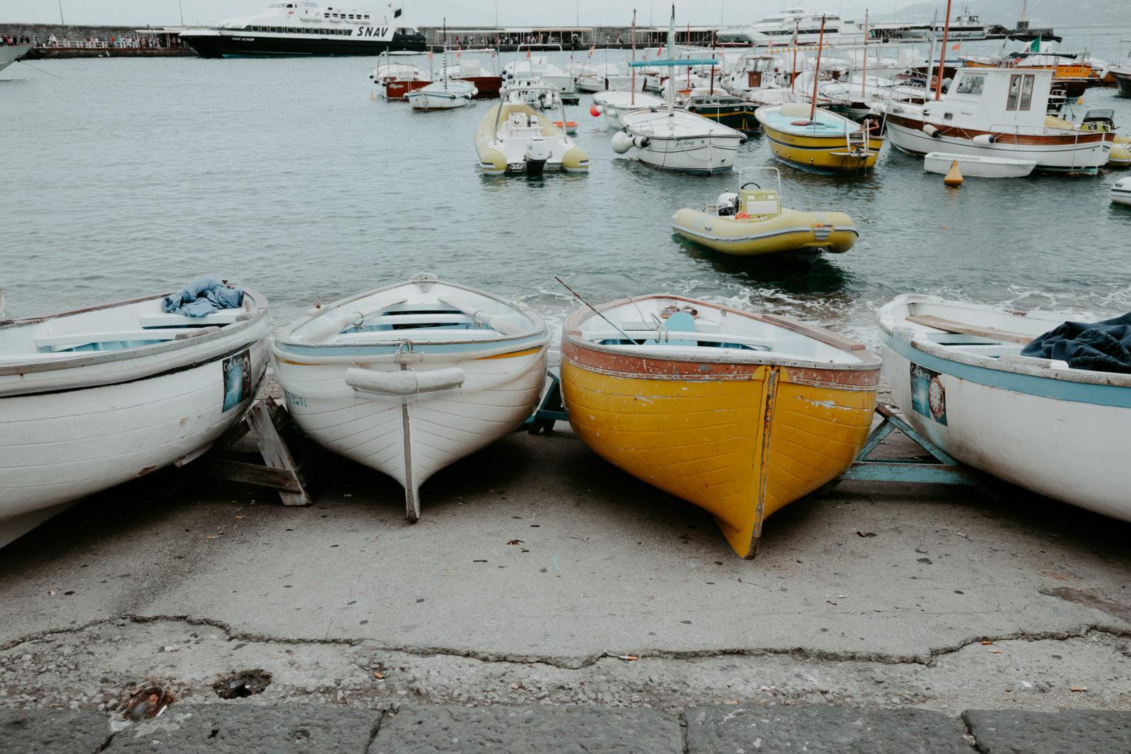 Capri Fischer Boote in Marina Grande