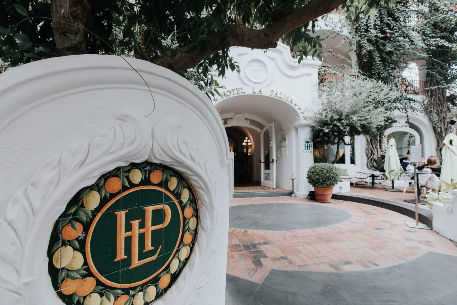 Capri Sehenswürdigkeiten Hotel La Palma Eingang