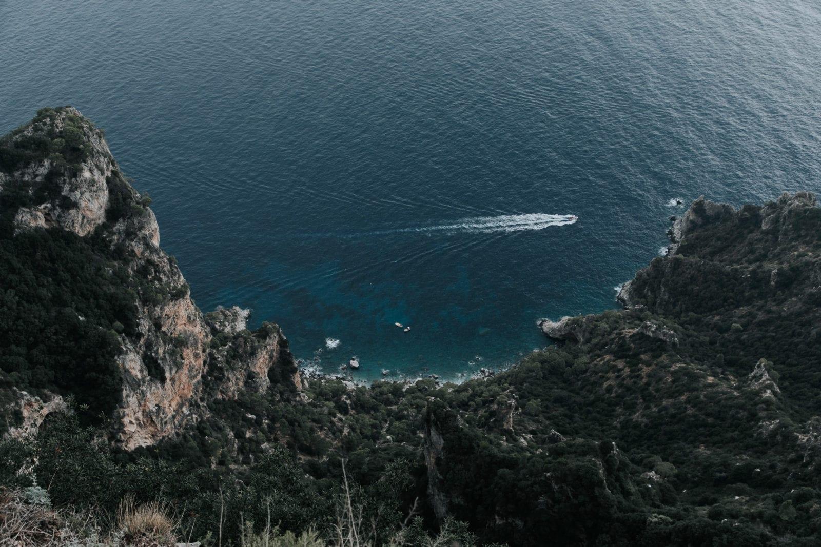 Monte Solaro Aussicht Capri Küste