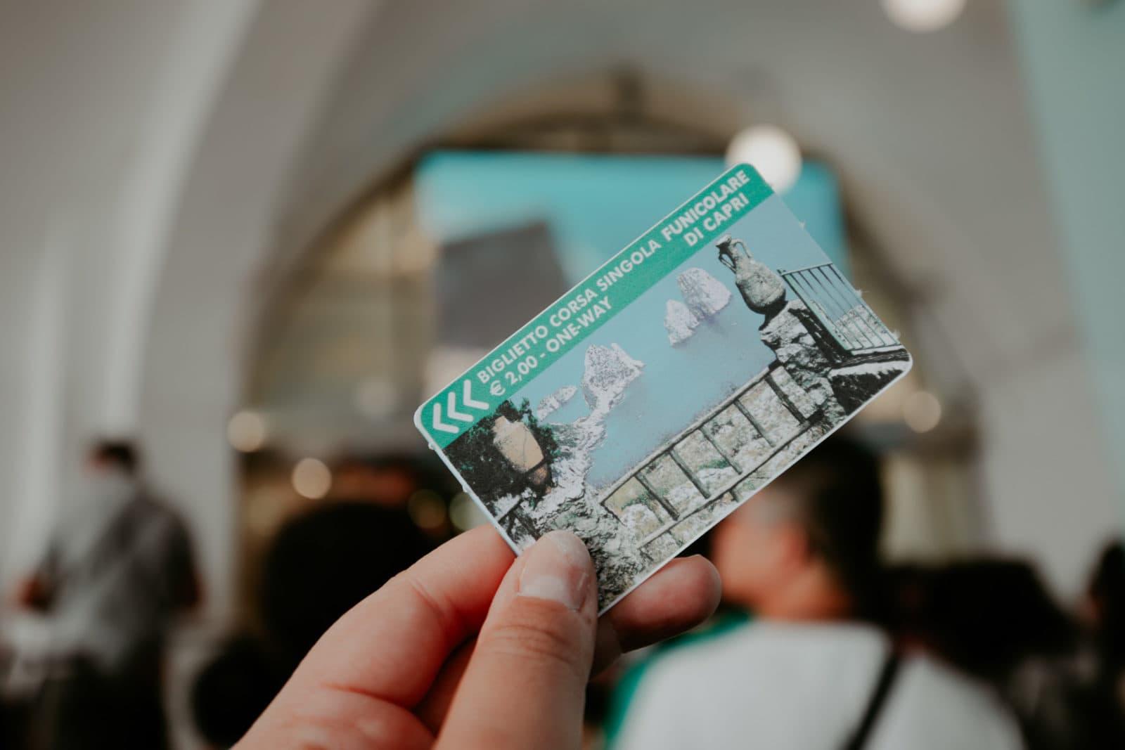 Capri Ticket Fahrkarte für Seilbahn