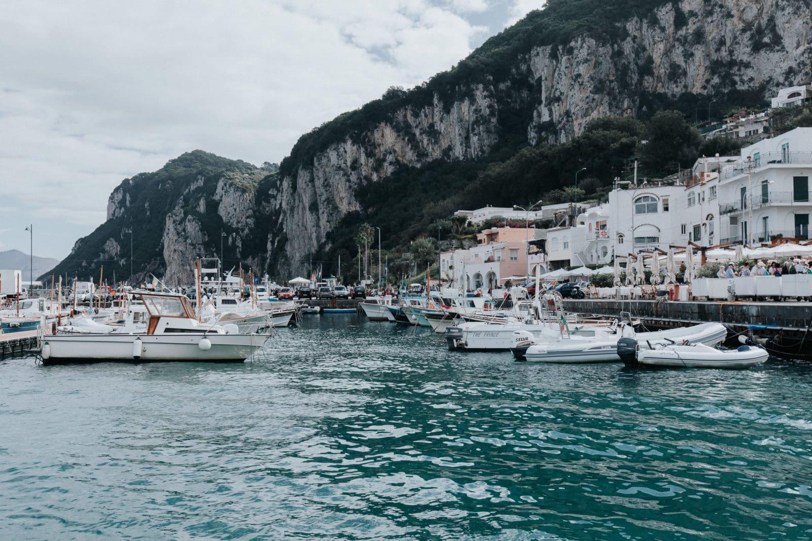 Capri Sehenswürdigkeiten Hafen Marina Grande