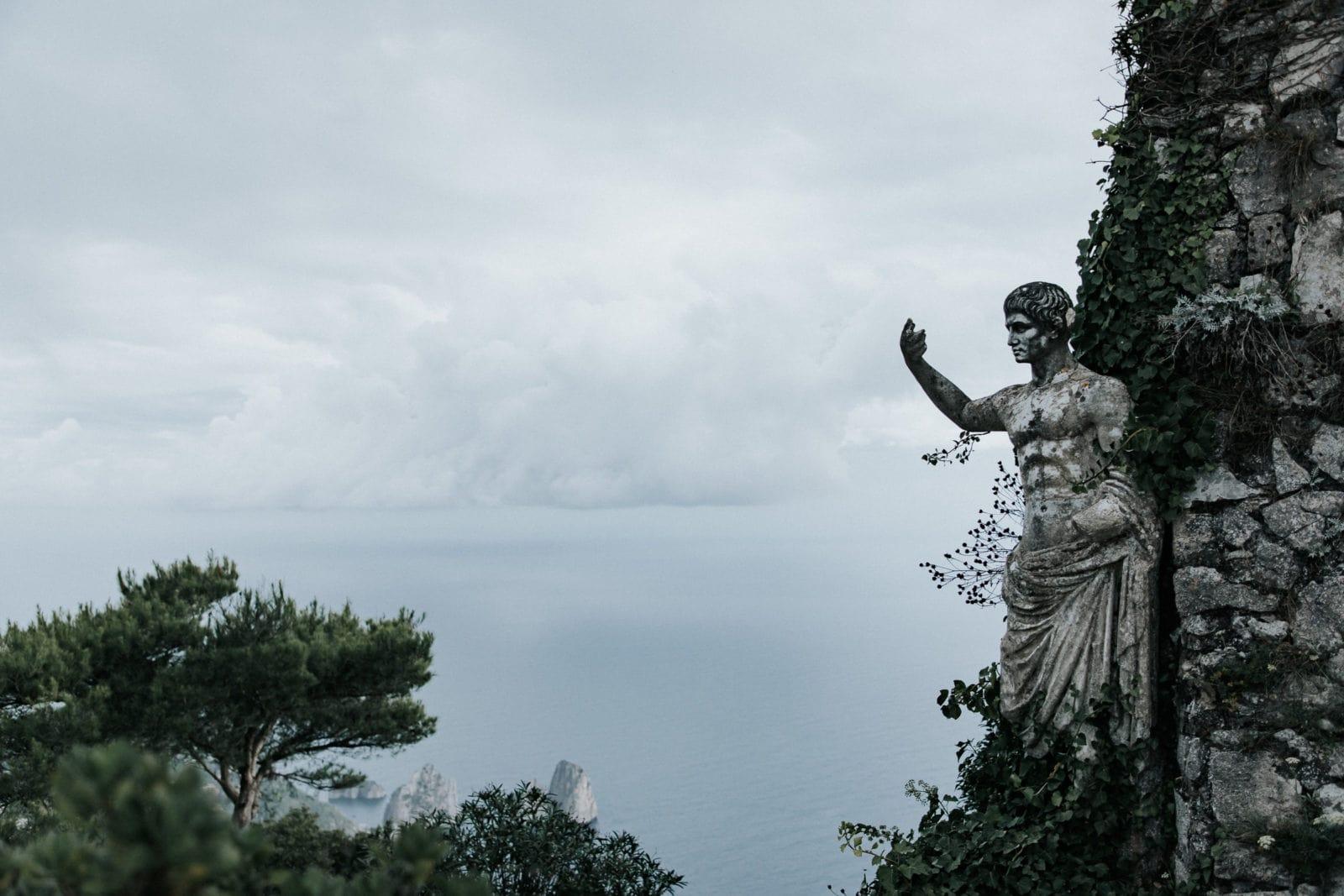 Capri Monte Solaro Aussicht mit Faraglioni