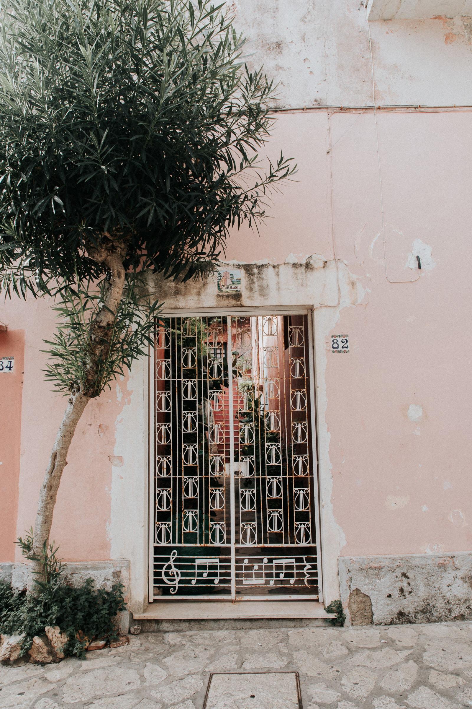 Capri Anacapri Tür in Altstadt