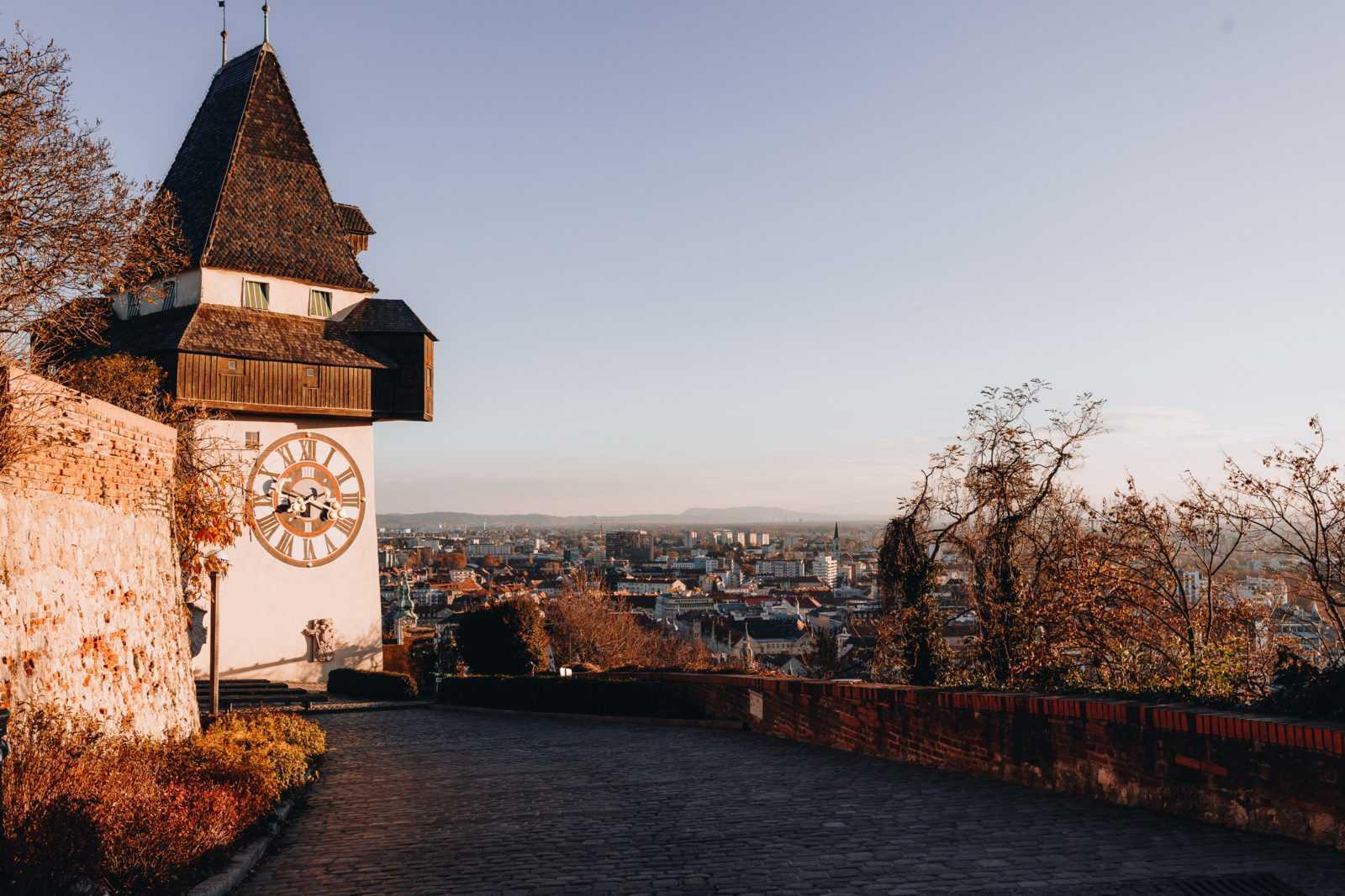 Turm Uhr Berg Graz