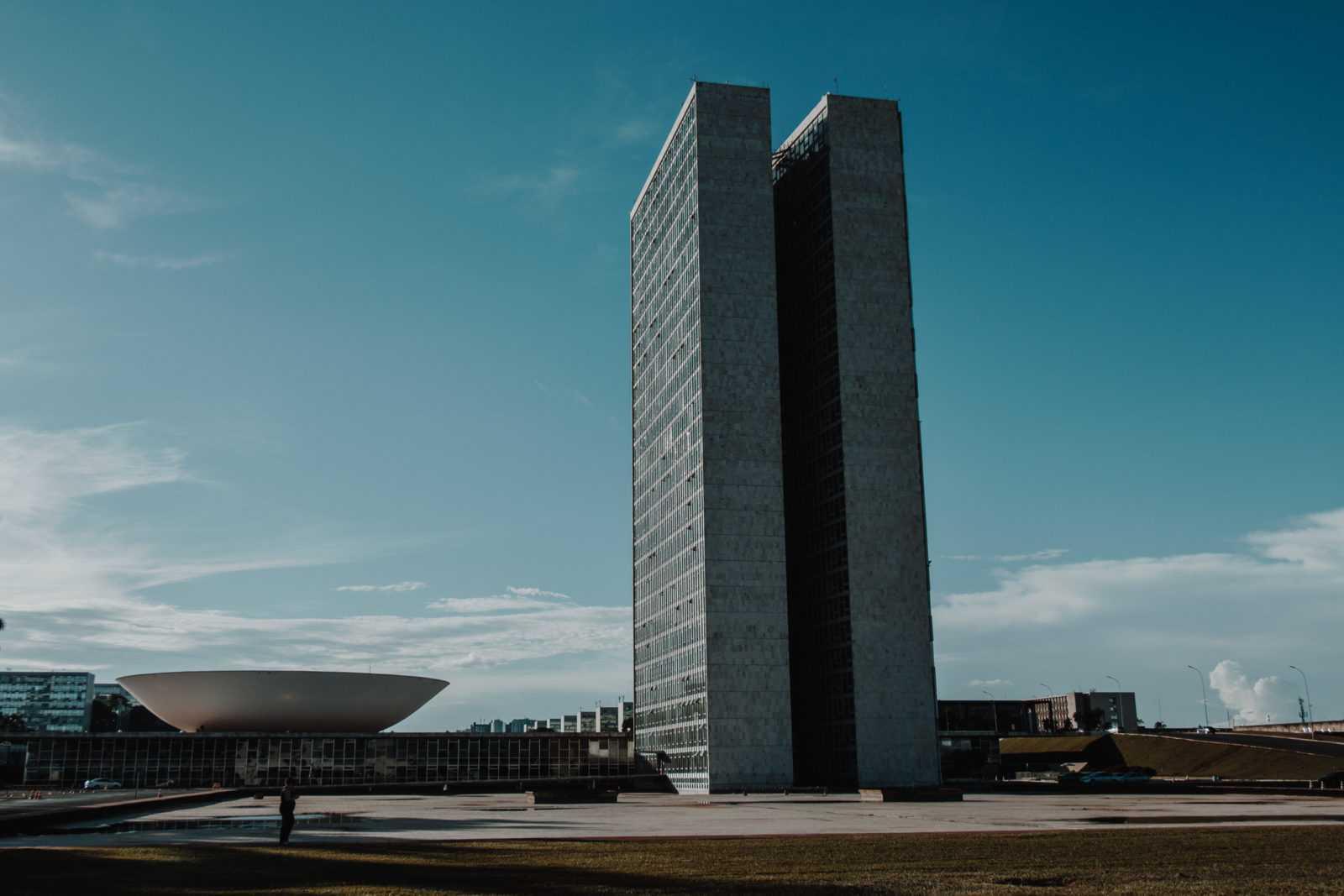 Brasilia Sehenswürdigkeiten Congresso Nacional Praca dos tres Poderes