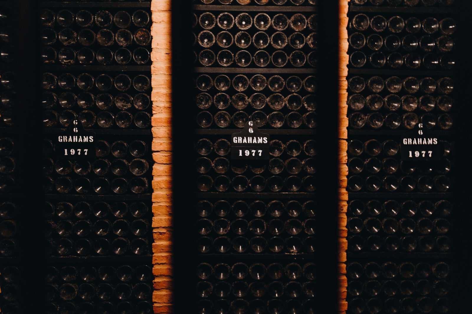 portwein porto Graham's Weinkellerei Flaschen