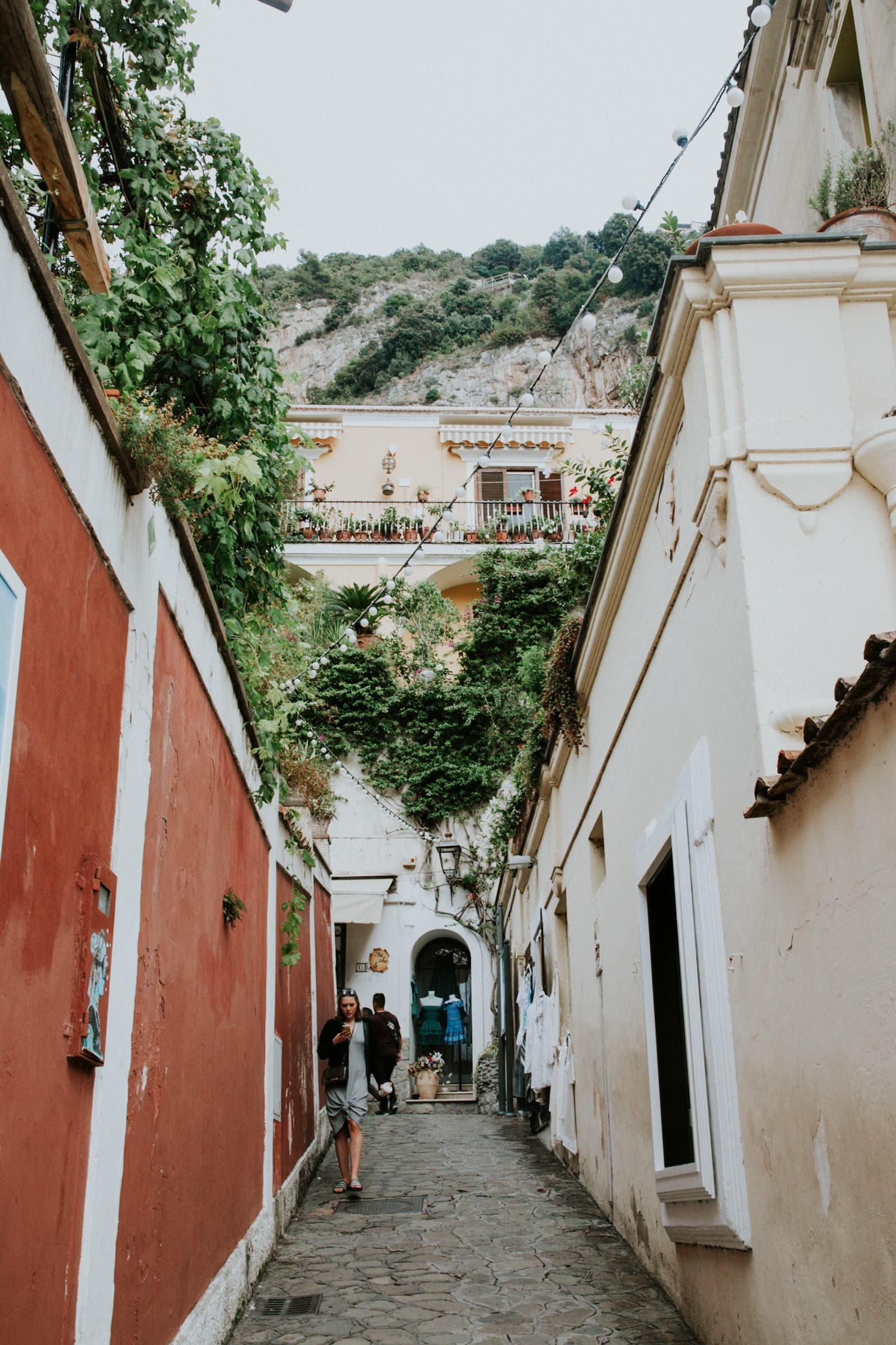 Street in Positano Italy Instagram Hotspot