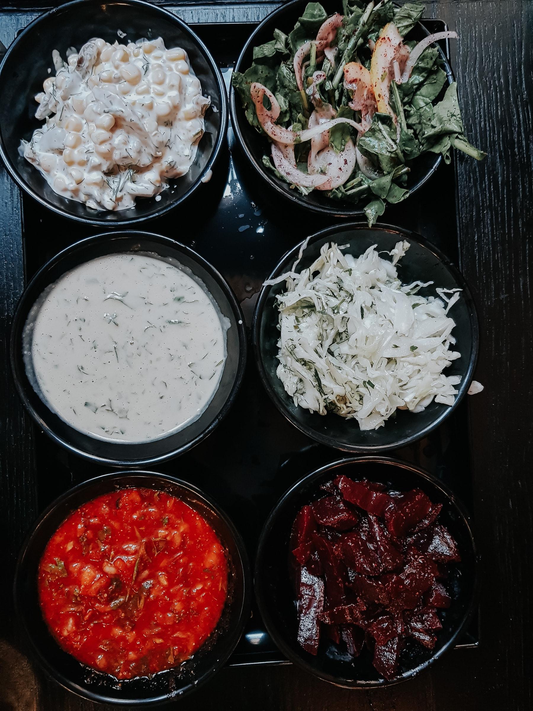 Tel Aviv Sehenswürdigkeiten Food Guide Abouelafia Salate