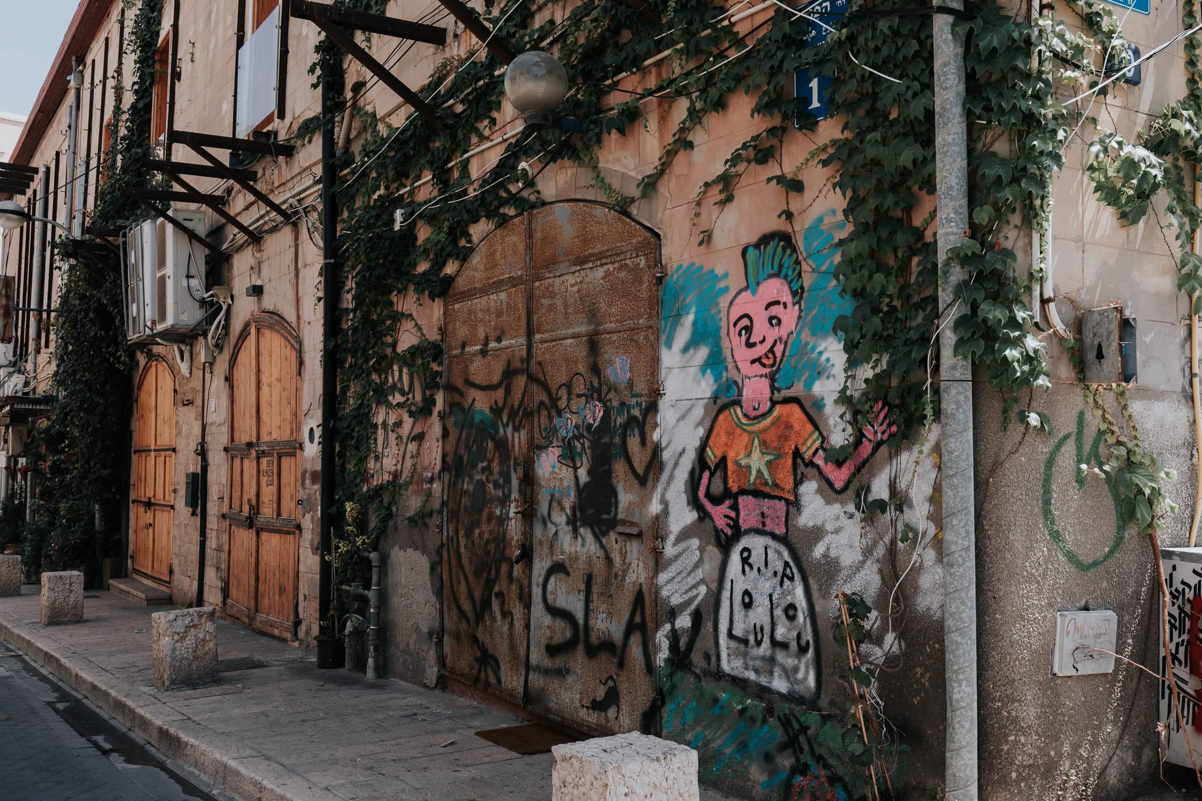 Tel Aviv Sehenswürdigkeiten Jaffa Graffitti Street Art Mural
