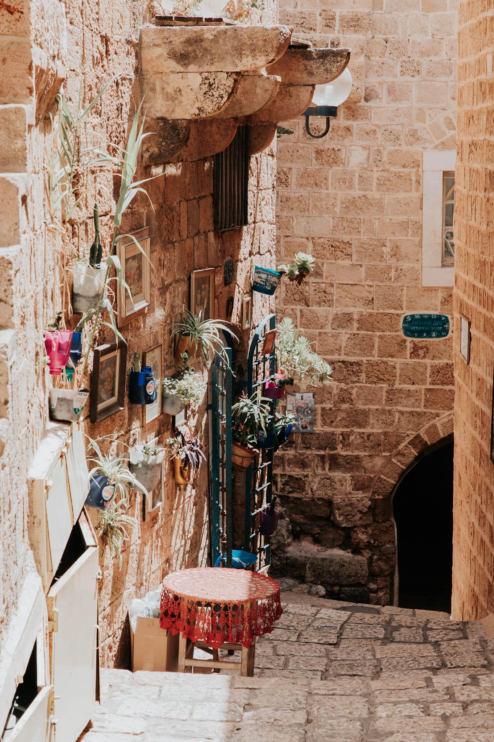 Tel Aviv Sehenswürdigkeiten Jaffa Altstadt Gasse