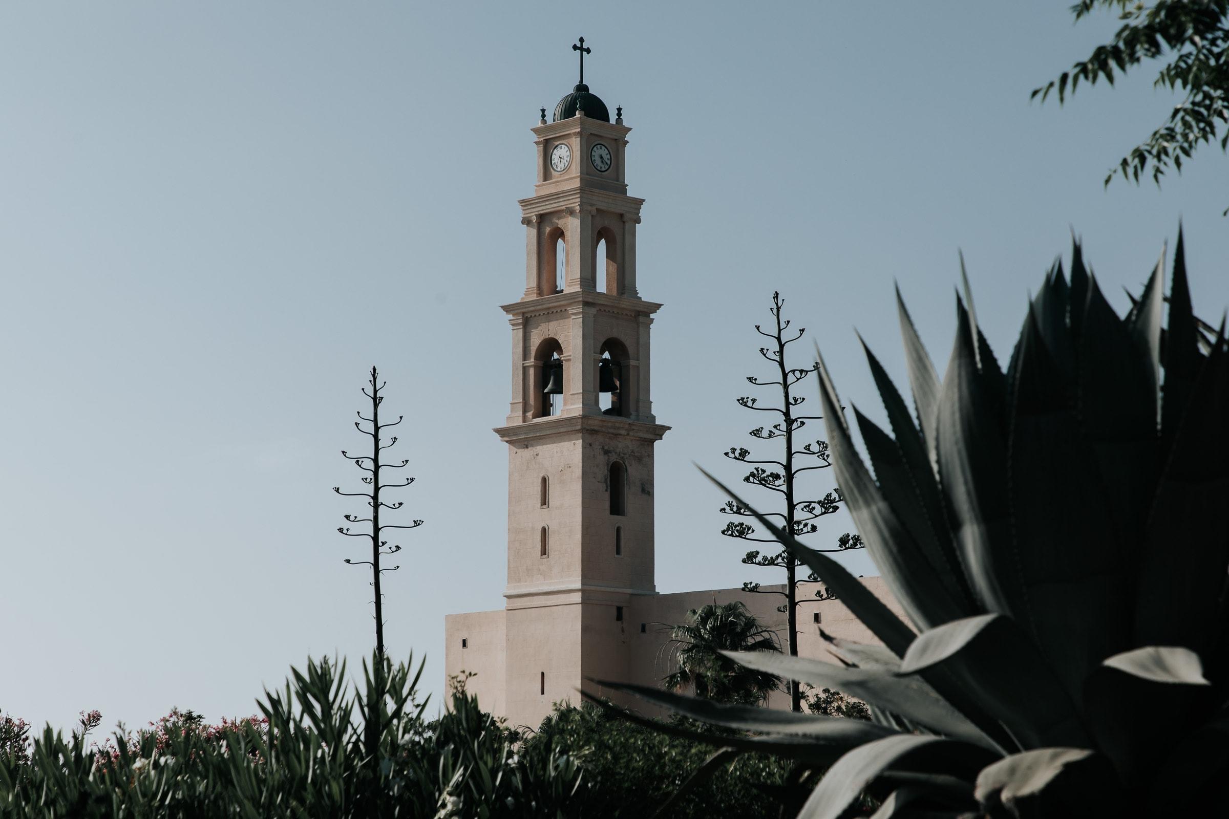 Tel Aviv Sehenswürdigkeiten Old Jaffa St Peter Kirche Uhrturm