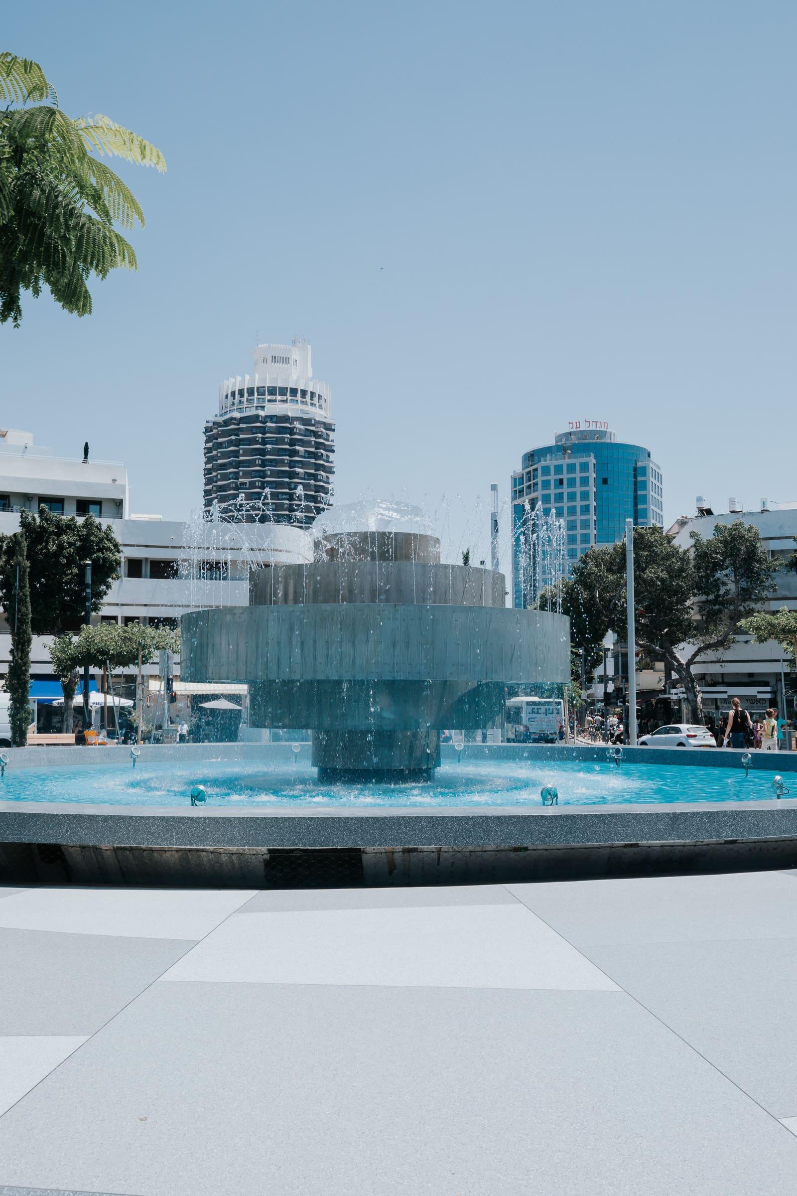 Tel Aviv Sehenswürdigkeiten Dizengoff Square Brunnen