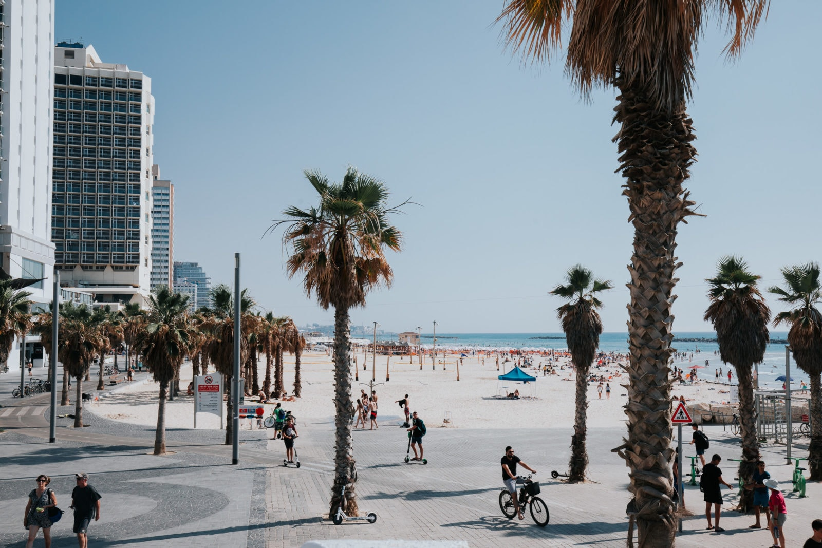 Tel Aviv Gordon Beach Strand Promenade