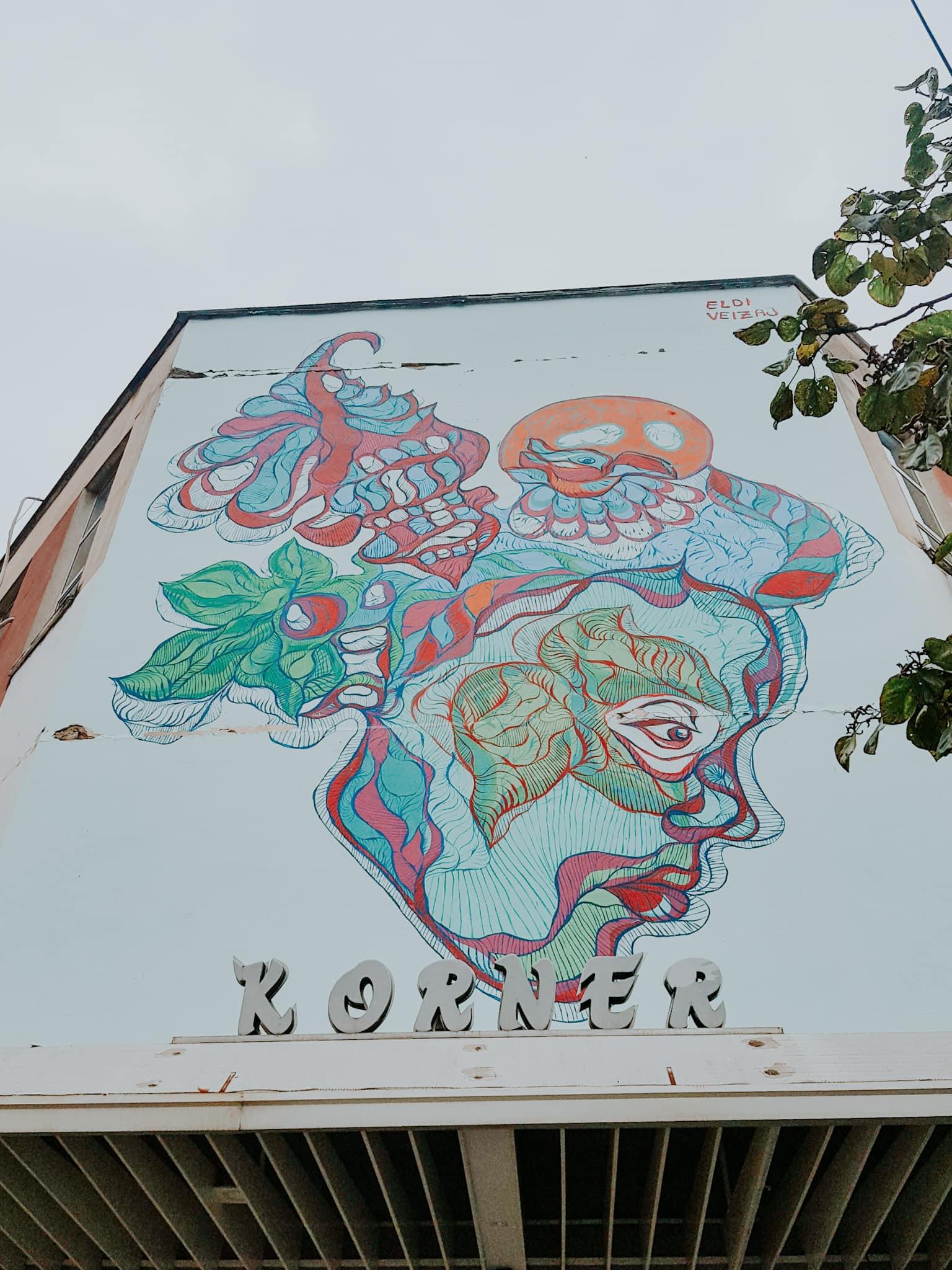 Korner Cafe Tirana Block Viertel Street Art