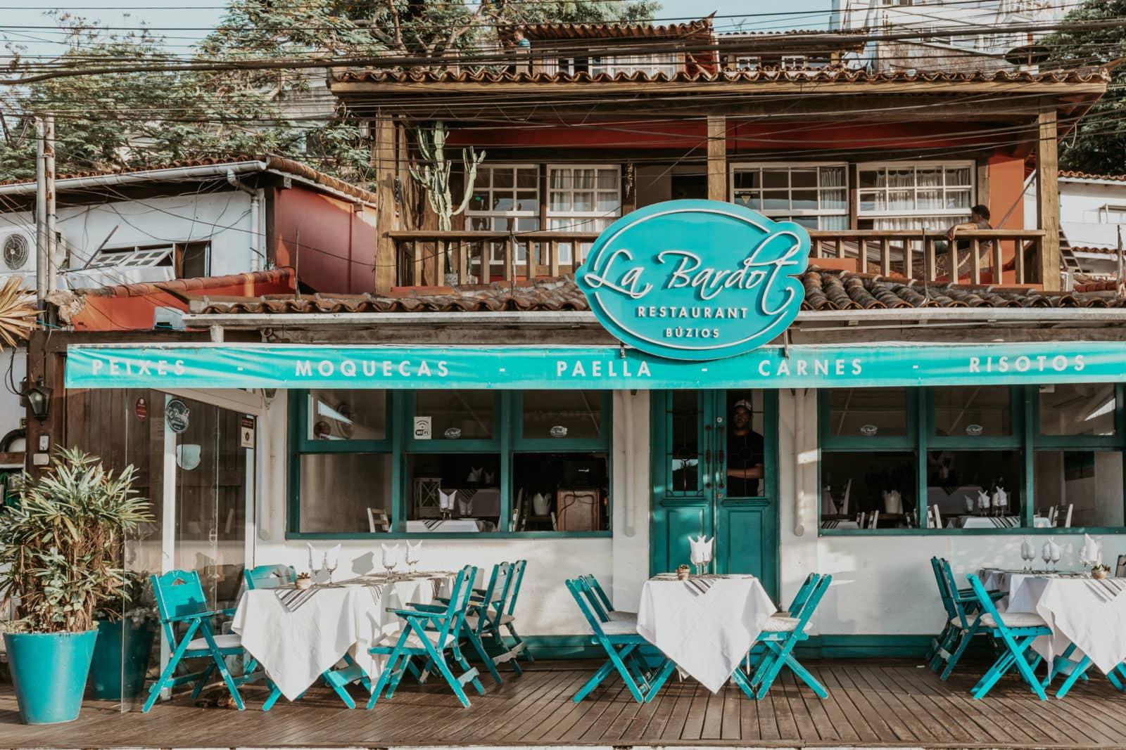 Restaurant La Bardot in Buzios Brasilien