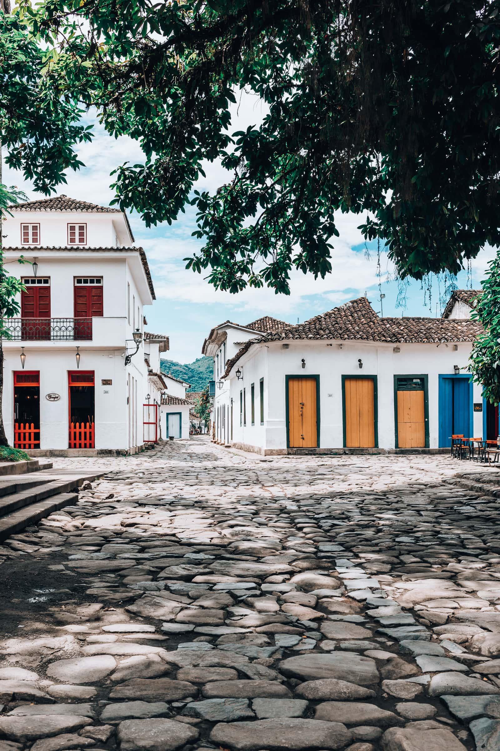 Praça da Matriz Marktplatz in Paraty Brasilien