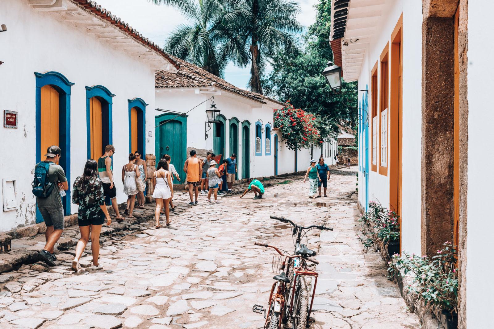 Bunte Häuser in der Altstadt von Paraty Brasilien