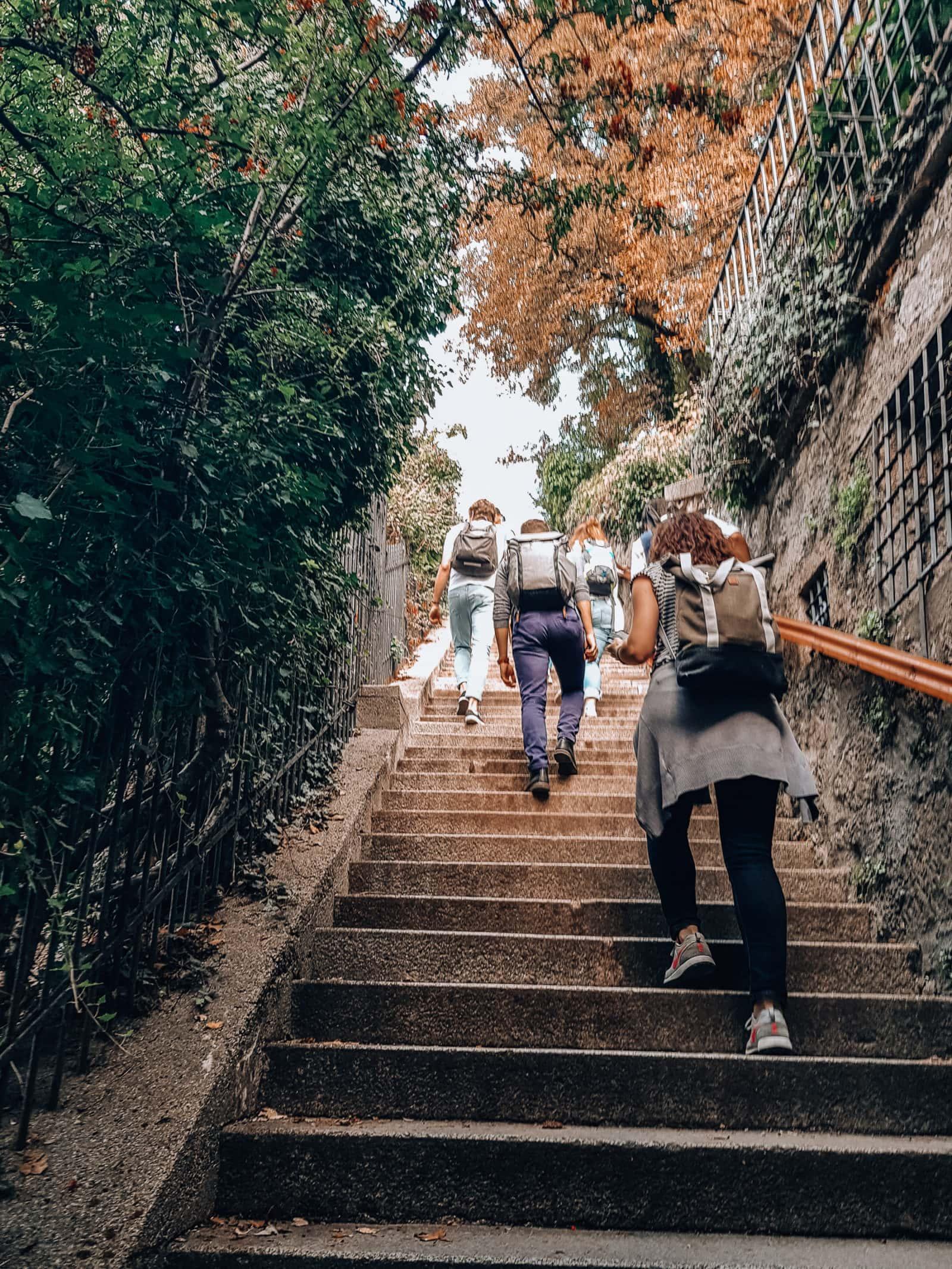 Salzburg Sehenswürdigkeiten Treppe zum Kapuzinerberg