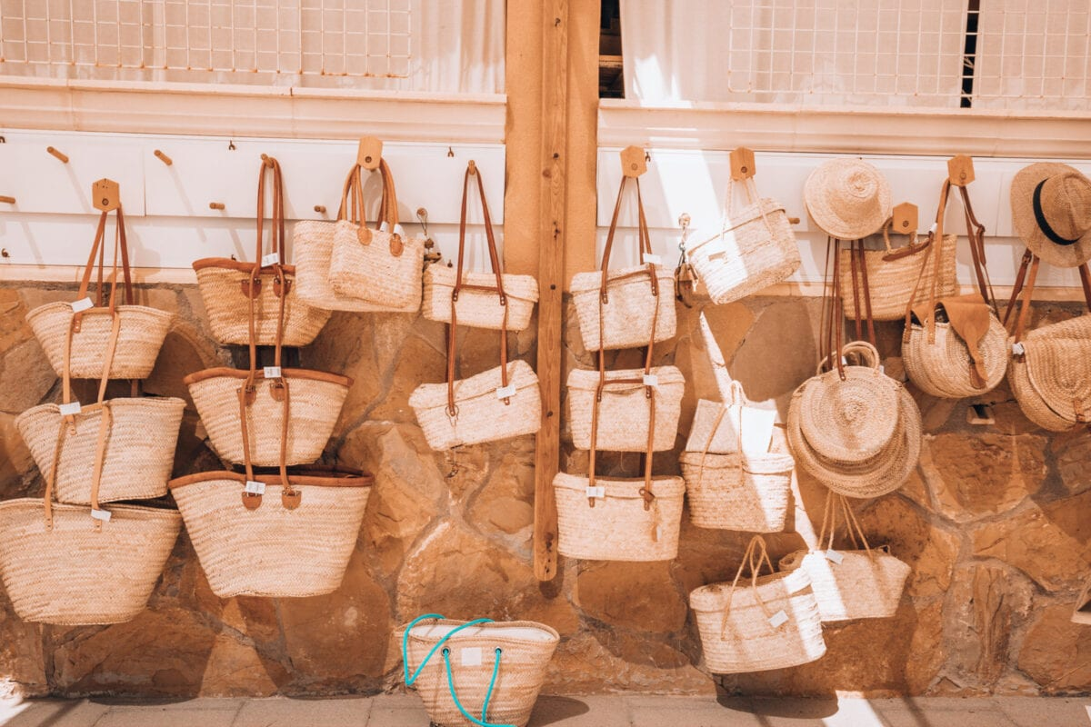 Baskets and basket bags in Mallorca