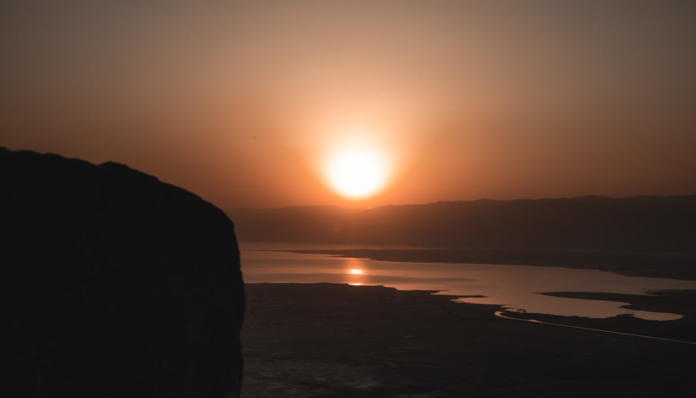 Sunrise in Masada Israel